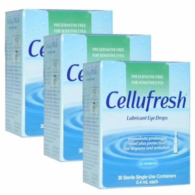 Cellufresh | น้ำตาเทียม ปราศจากสารกันเสีย Cellufresh Lubricant Eye Drops 30 Sterile (0.4 mL Each)