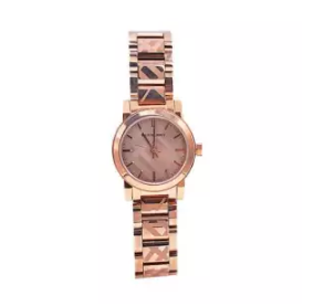 BURBERRY | นาฬิกาข้อมือผู้หญิง Burberry The City Rose-Gold Stainless Strap BU9235