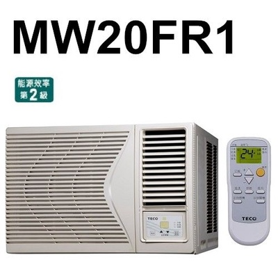 TECO東元高能效窗型冷氣 右吹式 MW20FR1
