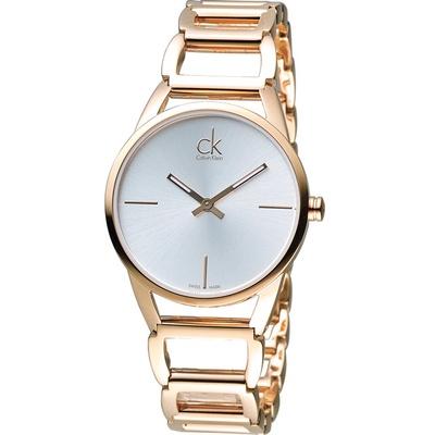 Calvin Klein Stately 時尚鏤空手鍊腕錶K3G23626
