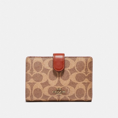 Coach|Medium Corner Zip Wallet