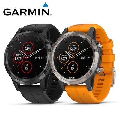 【GARMIN】fenix 5 Plus 行動支付音樂GPS複合式心率腕錶