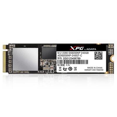 【ADATA 威剛】SSD XPG SX8200 240GB M.2 2280 PCIe