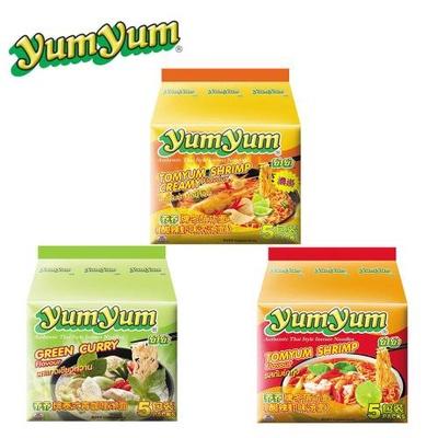 【YUM YUM 養養】香濃酸辣蝦味麵/泰式綠咖哩味麵/泰式酸辣蝦味麵
