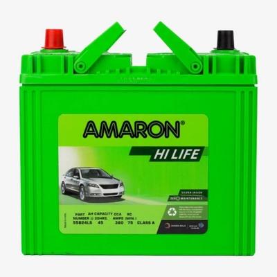 AMARON   แบตเตอรี่รถยนต์ ชนิดแห้ง รุ่น HI-LIFE 55B24L