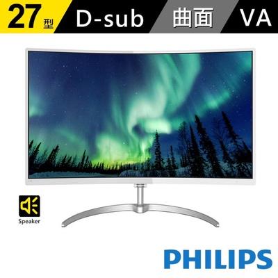 【PHILIPS】278E8QJAW 27型 VA曲面液晶螢幕