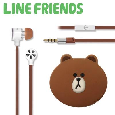 【LINE FRIENDS】熊大耳道式線控耳機 (LN-EMA11)