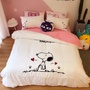Snoopy史努比 純棉床包 雙人床包 加大床包 舒柔棉  標準雙人四件組 史努比床包组 Snoopy床包組 卡通雙人床