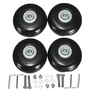 ZST 2 Sets Rubber Luggage Suitcase Wheels Replacement Axles Deluxerepair Od 55Mm