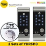 2 x Yale YDR3110 Digital Door Lock Bundle Deal (1+1 Years Local Yale Warranty)(FREE Installation)