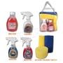 洗車工具袋-愛車保養清潔8件組_洗車精/玻璃清潔精/輪胎亮光劑/皮革保養乳/海棉/擦拭巾