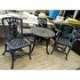 【土城二手市集】一桌兩椅~戶外桌椅 庭園桌椅 塑鋼桌椅