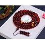 正品天然波羅的海血珀108顆佛珠手鏈體透瑩潤顏色艷麗支持國檢送證書