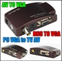 New PC laptop Composite Video AV S-Video RCA to PC Laptop VGA TV Converter adapter PC VGA to TV AV R