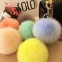 湊6顆升級~韓版(9~10cm)仿狐狸毛 大毛球鑰匙圈、包包掛飾、毛球 吊飾、手作、毛球、婚禮禮物