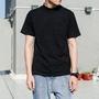 訂單滿400出貨哦\n夏季潮男復古個性 小高領純色短袖T恤男潮文藝青年立領半截袖短t