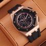 【莫莫代購】品質AP三眼機械男士腕錶 熊貓系列男錶鏤空背面 防水超強精品手錶現貨 MK DW CK 阿瑪尼 巴寶莉手錶