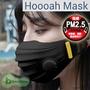 [ Baby House ] 韓國 抗PM2.5 雙層防護口罩 Hoooah Sport 運動型 雙通氣閥  - 黑色 (防護面罩+5入補充濾材)【愛兒房生活館】