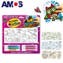 韓國AMOS 玻璃貼DIY玻璃彩繪組-大(台灣總代理公司貨)