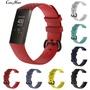 【現貨】適用於Fitbit charge3智能手環矽膠紋理錶帶3D菱形運動替換腕帶(小號)