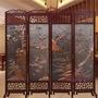 屏風現代實木屏風酒店餐廳移動屏風隔斷折屏辦公室可折疊仿古中式屏風xw