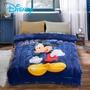 Disney法蘭絨暖暖被-藍色搖滾米奇