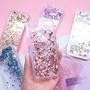 【VG】閃亮液體iPhone6S手機殼蘋果7Plus的保護套iphoneX閃粉液體流沙殼矽膠殼