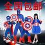 節日玩樂會萬圣節美國隊長服裝表演套裝cosplay兒童成人美國隊長衣服
