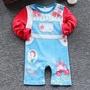 ⛱現貨特價【80-95cm】⛱女寶寶 迪士尼 白雪公主 蘋果 圖案 公主 純棉 長袖包屁衣 連身衣