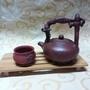 古董名家製作全手工老紫砂壺提樑壺