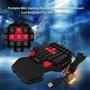 單手專業遊戲鍵盤LED背光雙空間USB有線迷你鍵盤