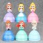 6款公主驚喜球扭蛋 蛋糕裝飾公仔擺件 驚喜神秘扭蛋可變換裝公主