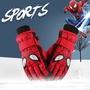 兒童保暖滑雪手套蜘蛛俠男孩女孩防水小學生玩雪加絨五指手套冬季