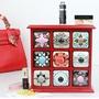 歐式創意桌面收納盒zakka木盒抽屜式化妝品收納盒木質首飾盒  HM