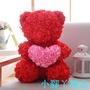 【小腳丫精品】情人節禮物毛絨玩具布娃娃生日送女生求婚創意永生玫瑰花香皂花熊
