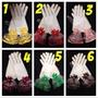 全新薄紗蕾絲造型短版婚紗手套