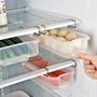 冰箱收納盒 透明塑料儲存保鮮盒 冰箱抽屜式隔層掛架分層 食物收納盒WD 電購3C