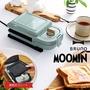 日本BRUNO/限量特別版Moomin嚕嚕米熱壓吐司機/BOE050-BGR。1色。(6480*2.6)日本必買 日本樂天代購