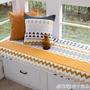 定制莫耐河 韓式飄窗墊陽臺坐墊榻榻米墊餐椅墊訂做定做全棉防滑布藝QM    橙子精品