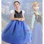 新款冰雪奇緣安娜公主裙女童連衣裙萬聖節演出服