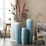 陶瓷花瓶 落地玄關干花束高擺件歐式電視柜陶瓷軟裝飾品創意藍色大花瓶 莎拉嘿呦