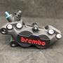 BREMBO 黑底紅字 對四卡鉗 煞車 對四 卡鉗 四活塞 來令片 煞車皮