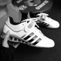 Adidas adipower Weightlifting 舉重鞋 訓練鞋 健身 白黑 M25733