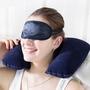 充氣U型枕 植絨枕 旅遊枕 雙面植絨枕 氣枕