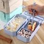 餐具套裝學生餐盒 密封保溫盒便當盒小麥秸稈雙層飯盒 保鮮盒套裝
