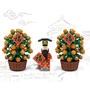 潘洛斯 新年系列 財神爺來拜年 新年財神 金桔樹 新年快樂 農曆新年 /46001 46002