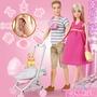 【當天發貨】懷孕的芭比 孕婦生寶寶大肚子孕婦一家三口公主玩具套裝