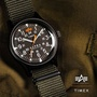dd▸代購 TIMEX X ALPHA INDUSTRIES MK1 ALUMINIUM 聯名錶 尼龍 軍綠 手錶