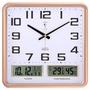 【約會の小店】北極星客廳日歷掛鐘家用靜音電子鐘表現代夜光方形溫度多功能壁鐘