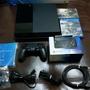 PS4 主機+原廠雙手把+魔物獵人世界中文版  少玩 保存狀況很好 盒裝完整 配件完整 1007A 500G